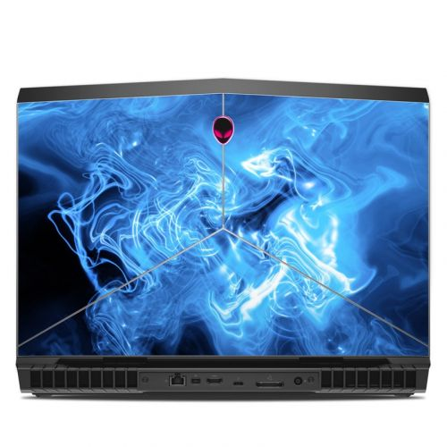 Blue Quantum Waves Alienware 17 R5 Skin