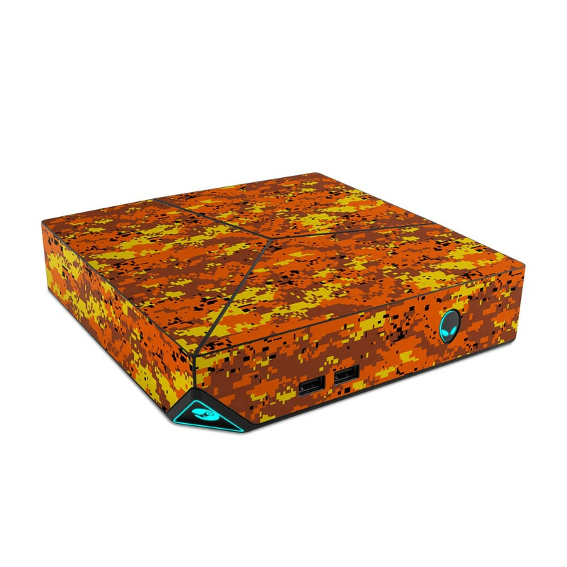 Digital Orange Camo Alienware Steam Machine Skin