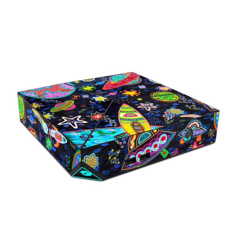 Alienware Steam Machine Skin design of Pattern, Psychedelic art, Visual arts, Paisley, Design, Motif, Art, Textile with black, gray, blue, red colors