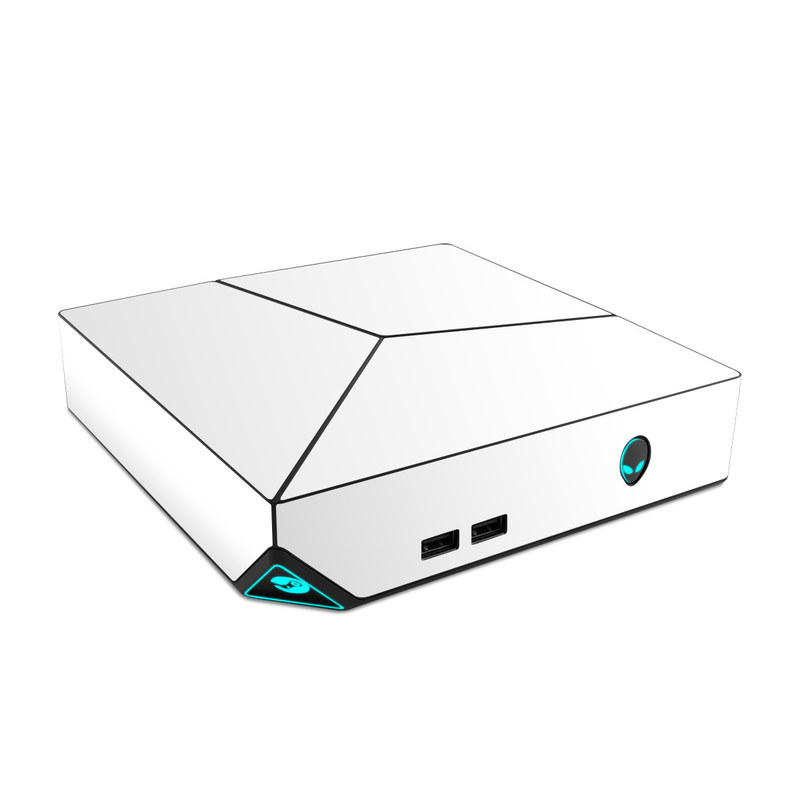 Alienware Steam Machine Skin design of White, Black, Line with white colors