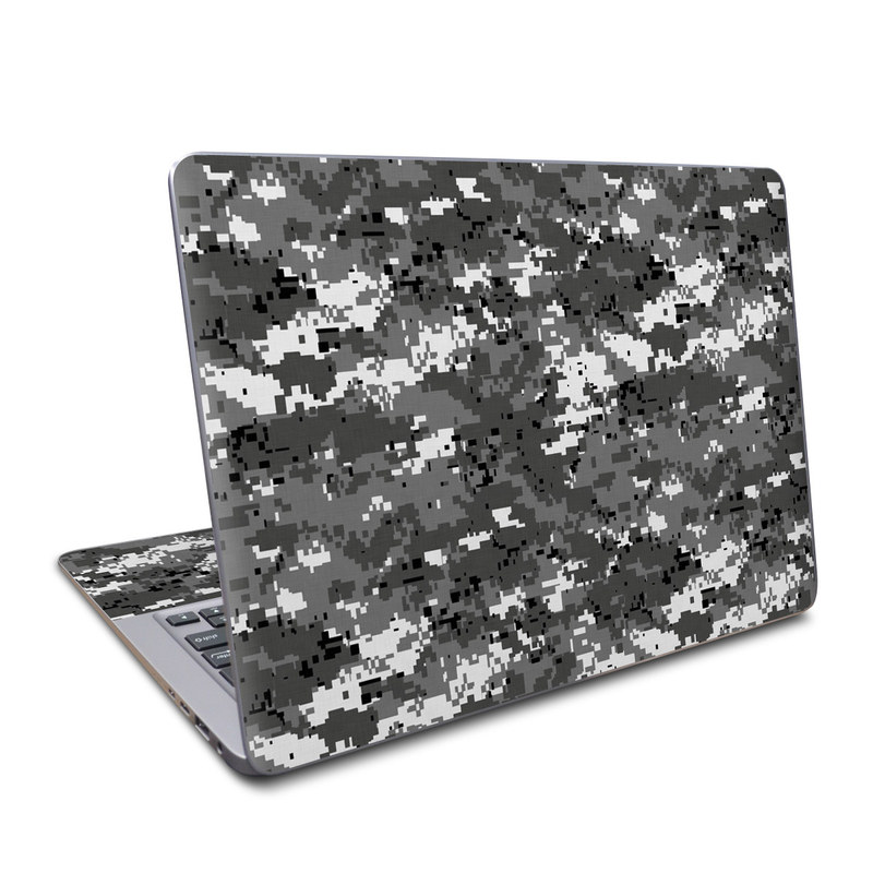Asus ZenBook UX330UA Skin design of Military camouflage, Pattern, Camouflage, Design, Uniform, Metal, Black-and-white with black, gray colors
