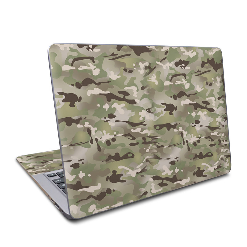 Asus ZenBook UX330UA Skin design of Military camouflage, Camouflage, Pattern, Clothing, Uniform, Design, Military uniform, Bed sheet with gray, green, black, red colors