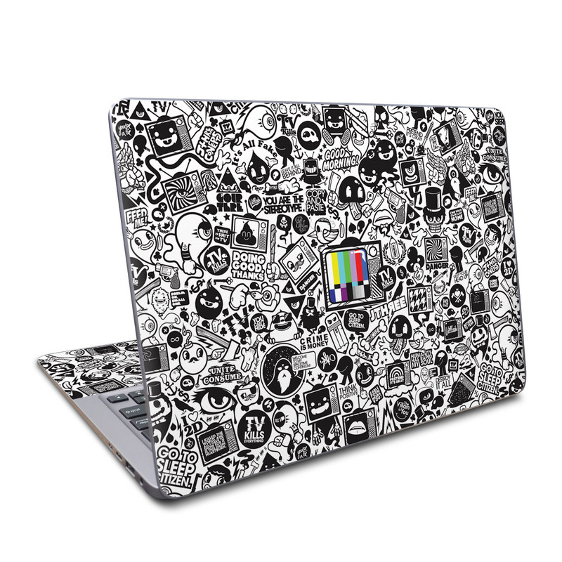 Asus ZenBook UX330UA Skin design of Pattern, Drawing, Doodle, Design, Visual arts, Font, Black-and-white, Monochrome, Illustration, Art with gray, black, white colors