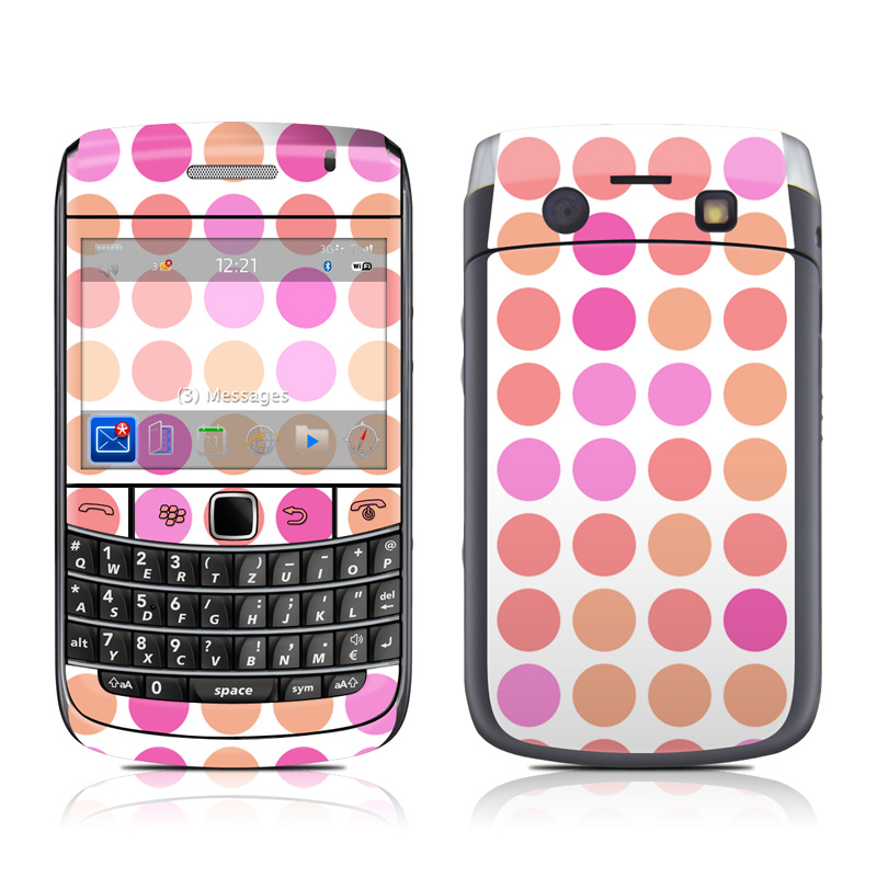 Big Dots Peach BlackBerry Bold 9700 Skin
