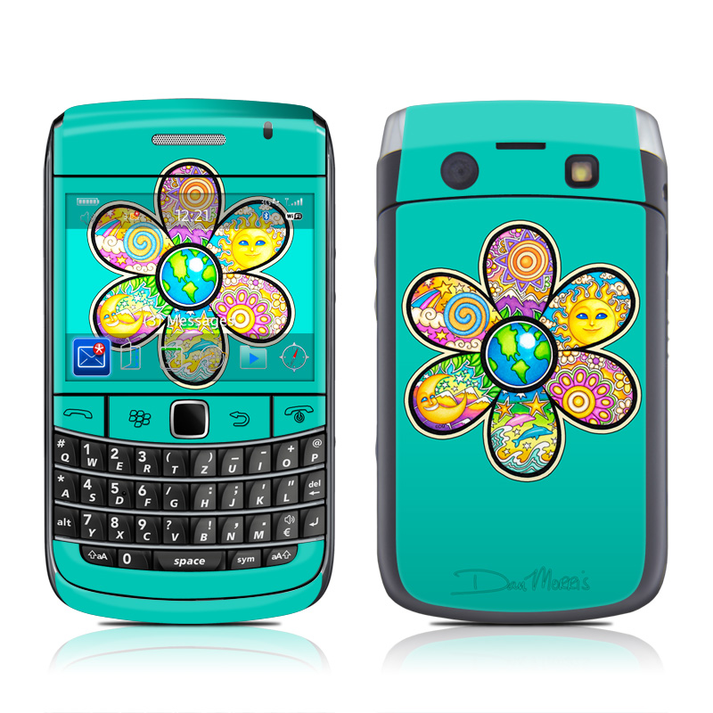 Peace Flower BlackBerry Bold 9700 Skin