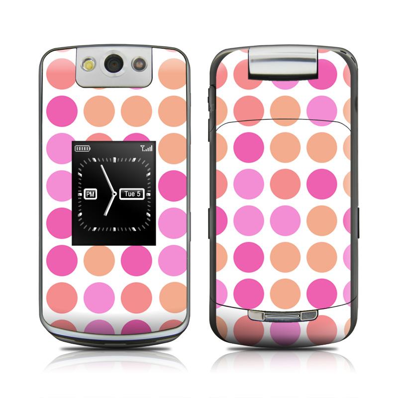 Big Dots Peach BlackBerry Pearl Flip 8220 Skin