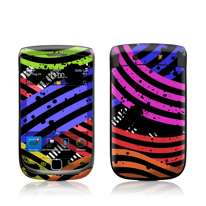Color Flow BlackBerry Torch 9800 Skin