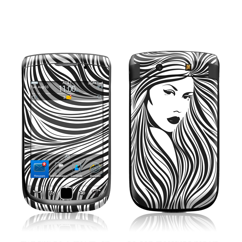 Girl BlackBerry Torch 9800 Skin