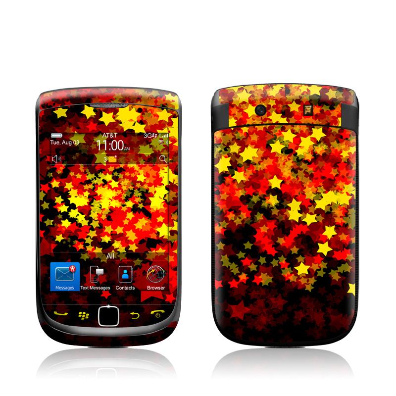 Stardust Fall BlackBerry Torch 9800 Skin