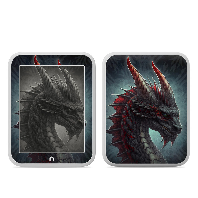 Black Dragon Barnes & Noble NOOK GlowLight Skin