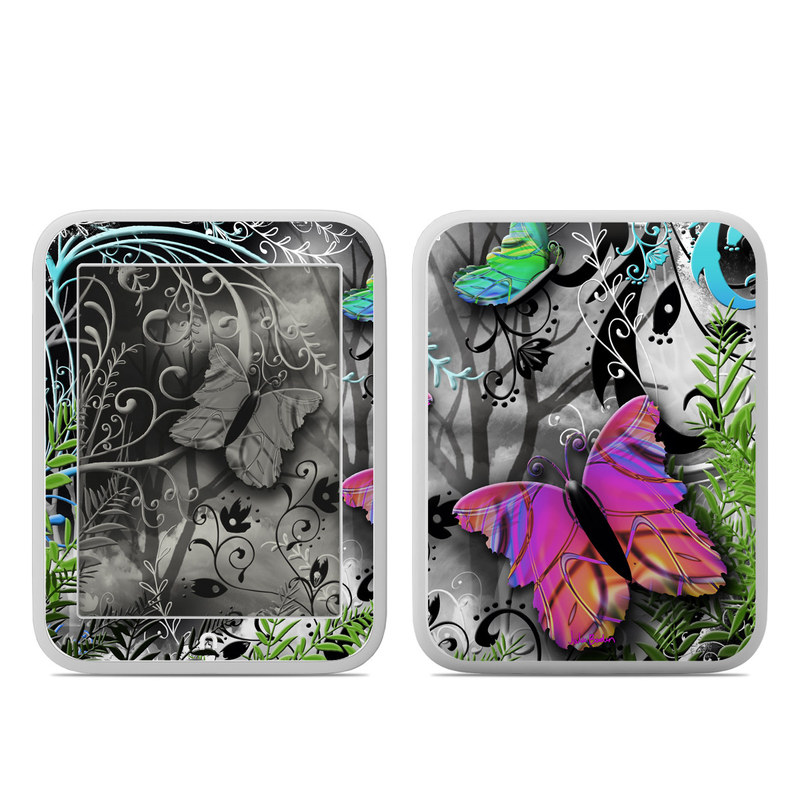 Barnes & Noble NOOK GlowLight Skin design of Butterfly, Pink, Purple, Violet, Organism, Spring, Moths and butterflies, Botany, Plant, Leaf with black, gray, green, purple, red colors
