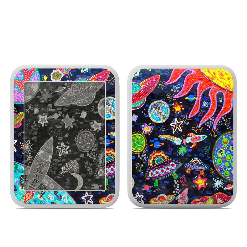 Barnes & Noble NOOK GlowLight Skin design of Pattern, Psychedelic art, Visual arts, Paisley, Design, Motif, Art, Textile with black, gray, blue, red colors
