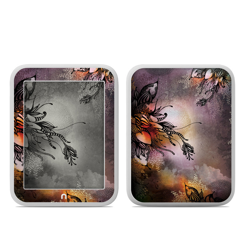 Barnes & Noble NOOK GlowLight Skin design of Illustration, Graphic design, Cg artwork, Art, Fictional character, Graphics, Visual arts, Darkness with black, gray, red, green, purple colors