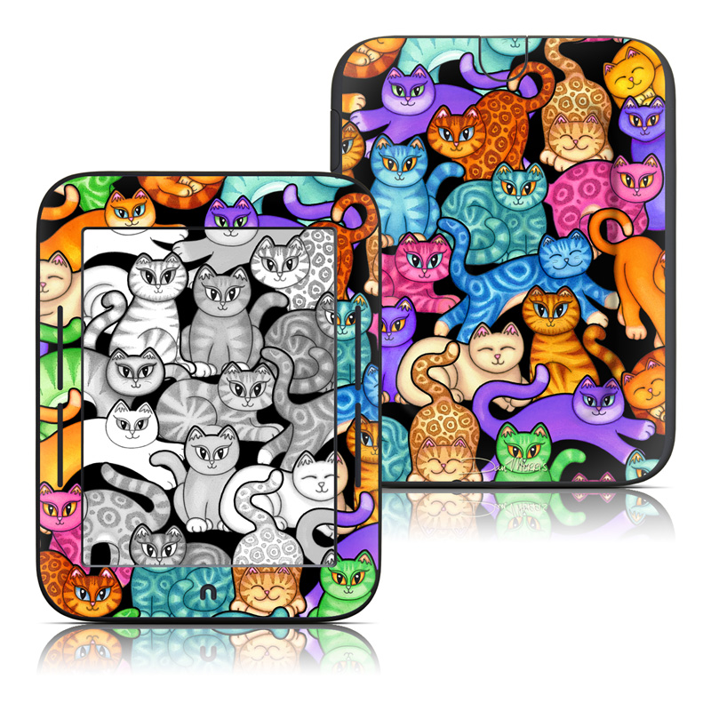 Colorful Kittens Barnes & Noble NOOK Simple Touch Skin