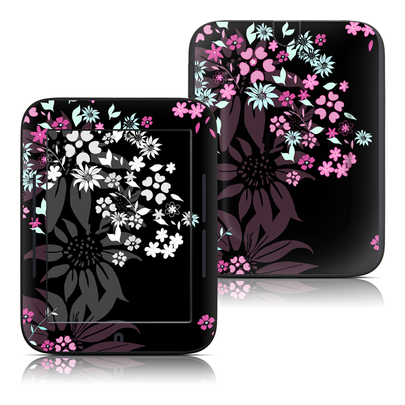 Dark Flowers Barnes & Noble NOOK Simple Touch Skin
