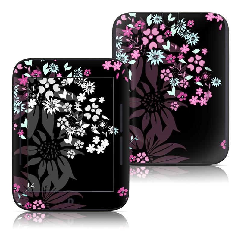 Dark Flowers Barnes & Noble NOOK Simple Touch Skin