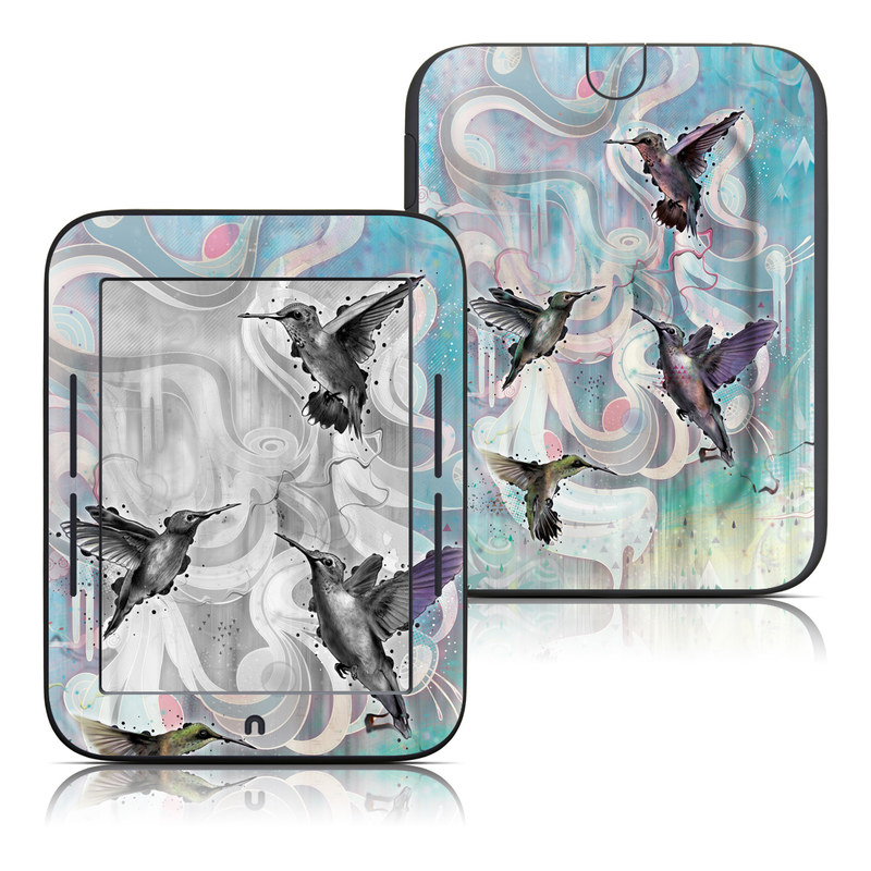 Hummingbirds Barnes & Noble NOOK Simple Touch Skin