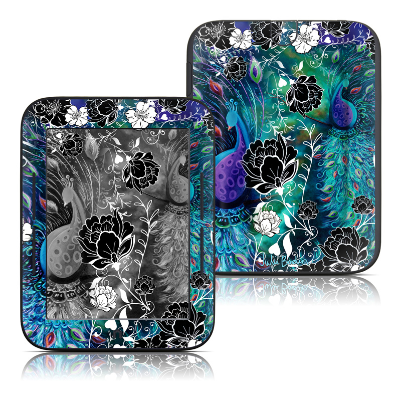 Peacock Garden Barnes & Noble NOOK Simple Touch Skin