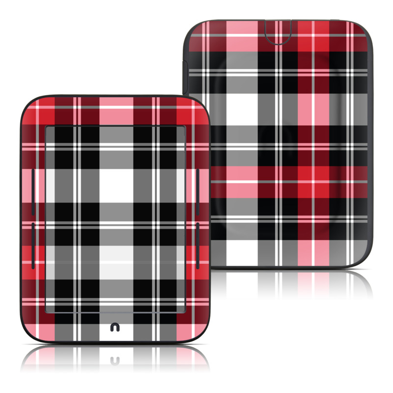 Red Plaid Barnes & Noble NOOK Simple Touch Skin