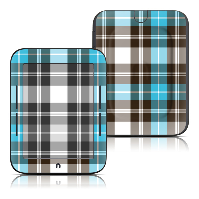 Turquoise Plaid Barnes & Noble NOOK Simple Touch Skin