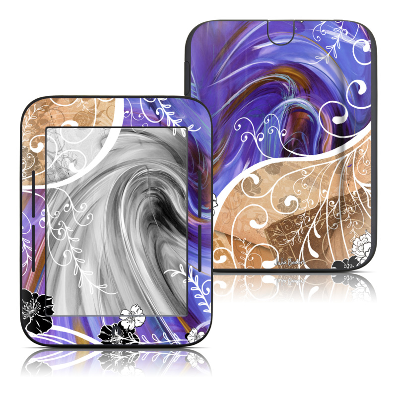 Purple Waves Barnes & Noble NOOK Simple Touch Skin