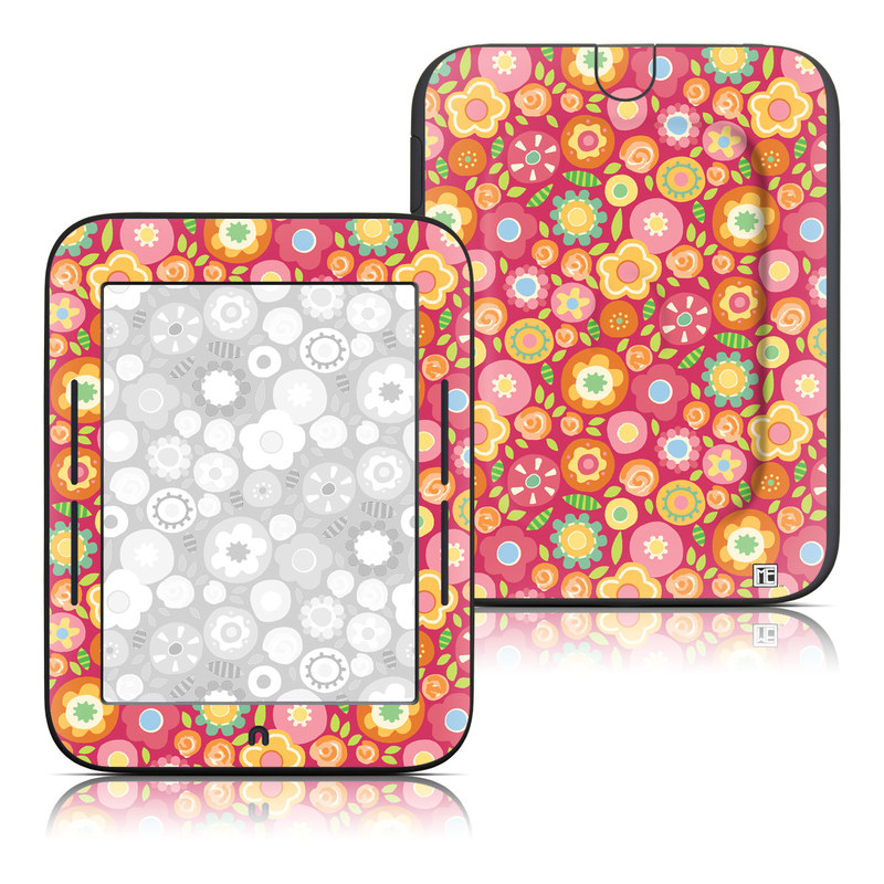 Flowers Squished Barnes & Noble NOOK Simple Touch Skin