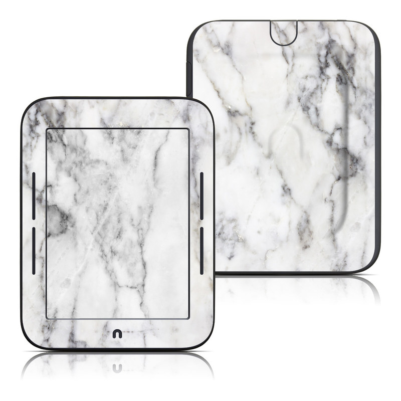 Barnes & Noble NOOK Simple Touch Skin design of White, Geological phenomenon, Marble, Black-and-white, Freezing with white, black, gray colors