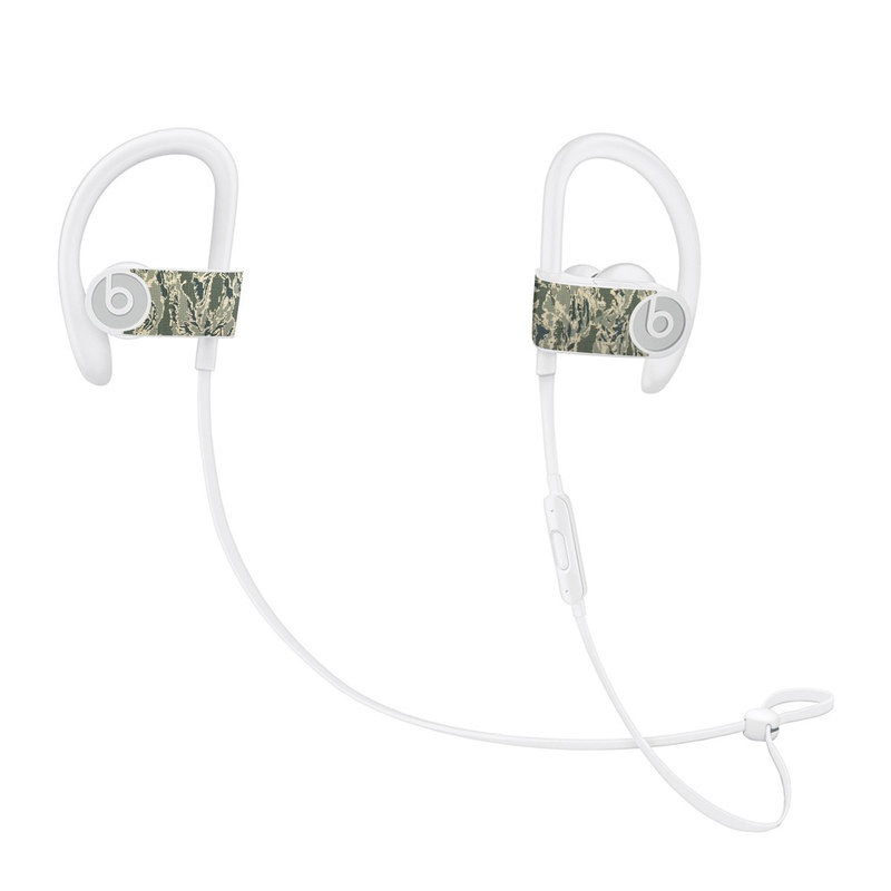 Beats Powerbeats3 Skin design of Pattern, Grass, Plant with gray, green colors