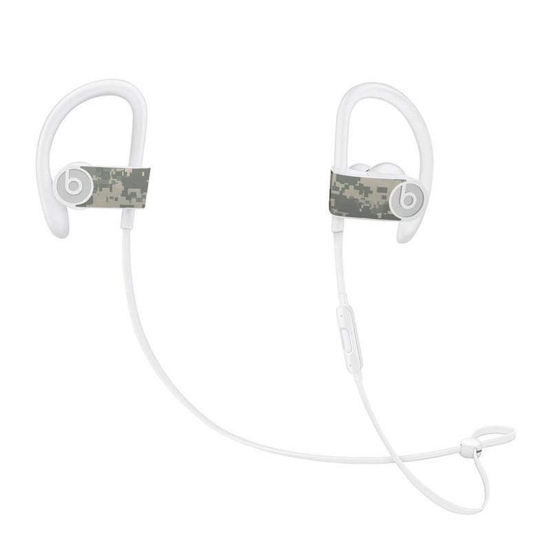 Beats Powerbeats3 Skin design of Military camouflage, Green, Pattern, Uniform, Camouflage, Design, Wallpaper with gray, green colors