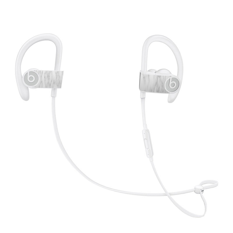 Beats Powerbeats3 Skin design of White, Tree, Line, Black-and-white, Monochrome, Branch, Drawing, Plant, Forest, Twig with white, gray colors