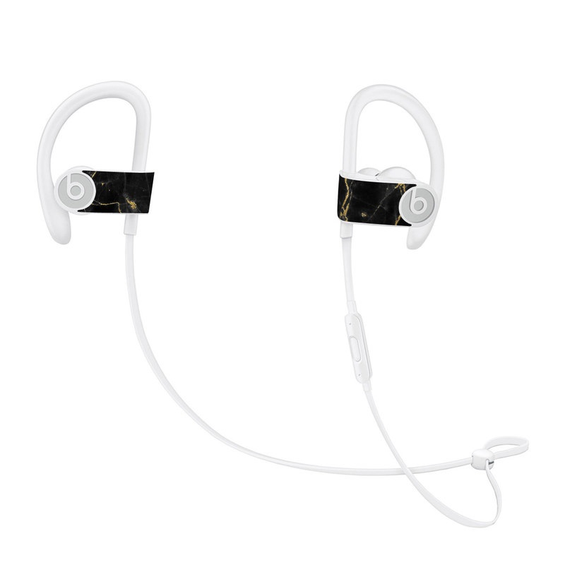 Black Gold Marble Beats Powerbeats3 Skin
