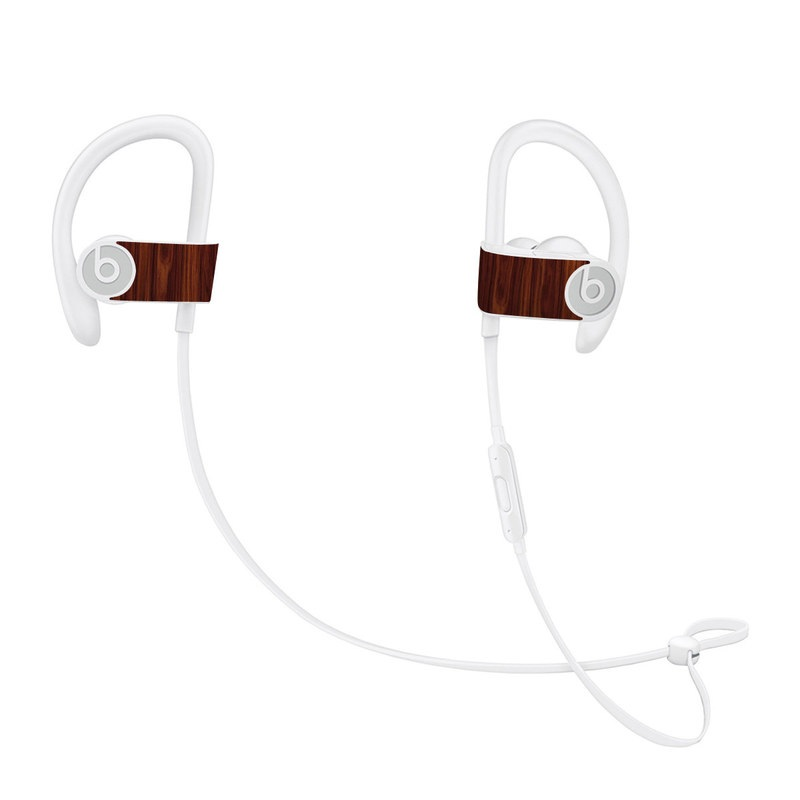 Beats Powerbeats3 Skin design of Wood, Red, Brown, Hardwood, Wood flooring, Wood stain, Caramel color, Laminate flooring, Flooring, Varnish with black, red colors
