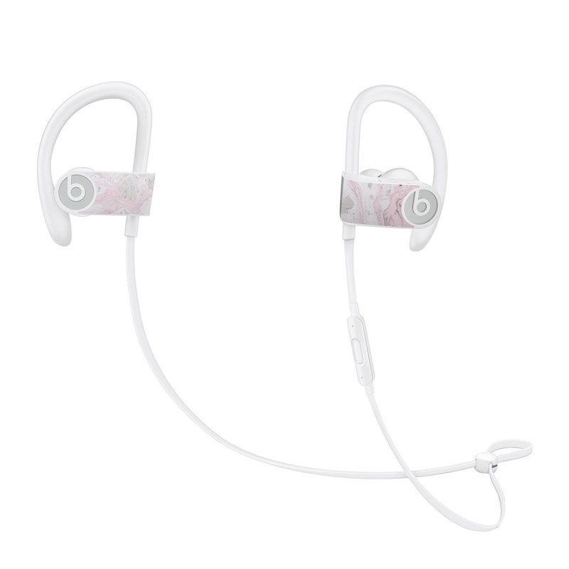 Beats Powerbeats3 Skin design of White, Pink, Pattern, Illustration with pink, gray, white colors