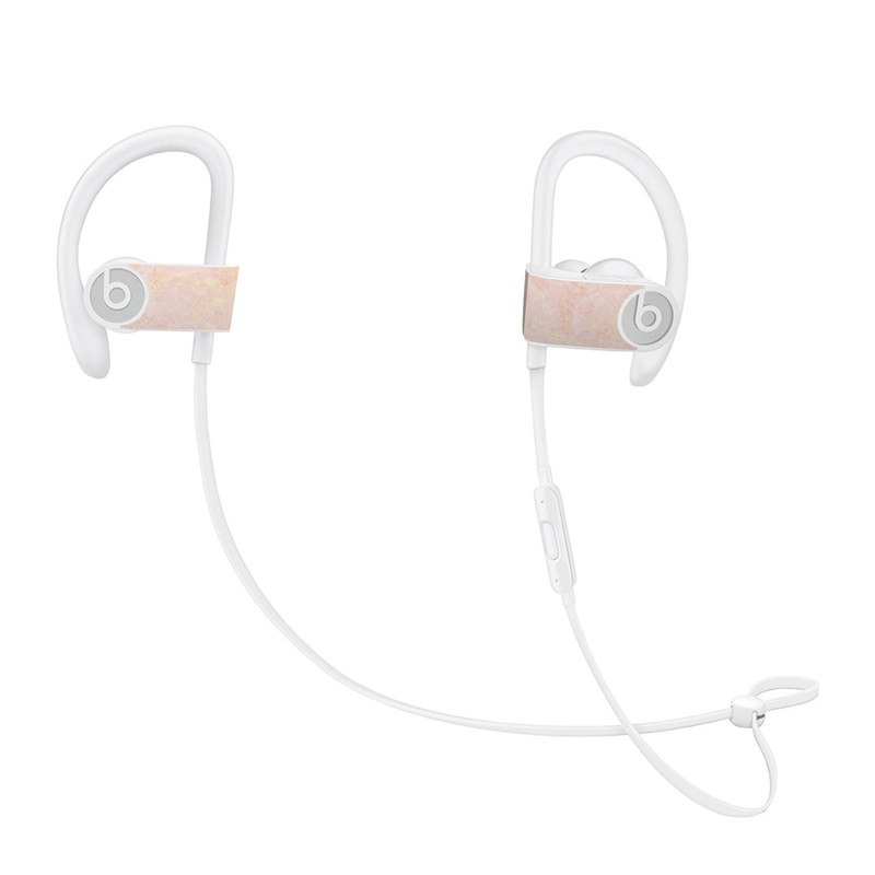 Rose Gold Marble Beats Powerbeats3 Skin