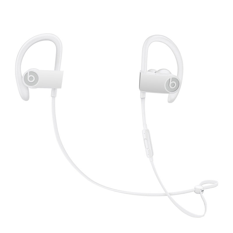 Beats Powerbeats3 Skin design of White, Black, Line with white colors