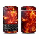 Flower Of Fire BlackBerry Q10 Skin
