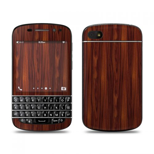 Dark Rosewood BlackBerry Q10 Skin