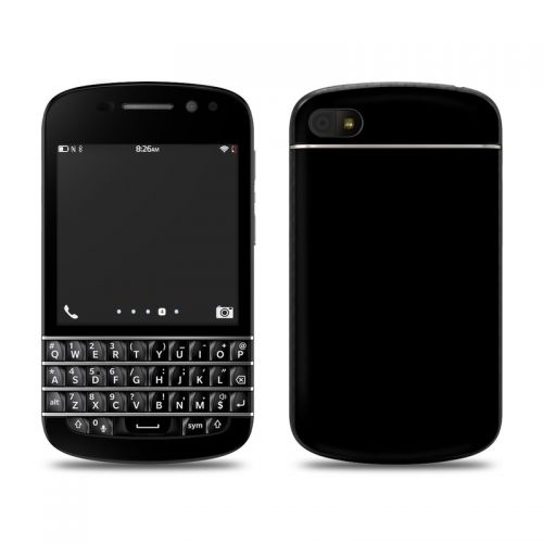 Solid State Black BlackBerry Q10 Skin