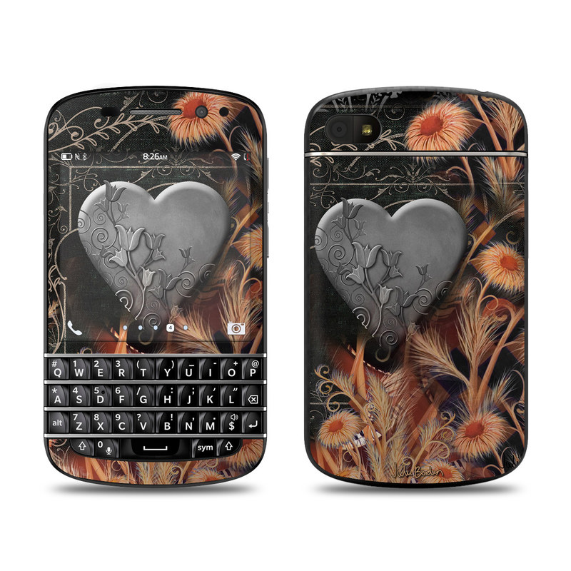 Black Lace Flower BlackBerry Q10 Skin