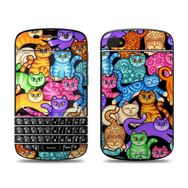 Colorful Kittens BlackBerry Q10 Skin