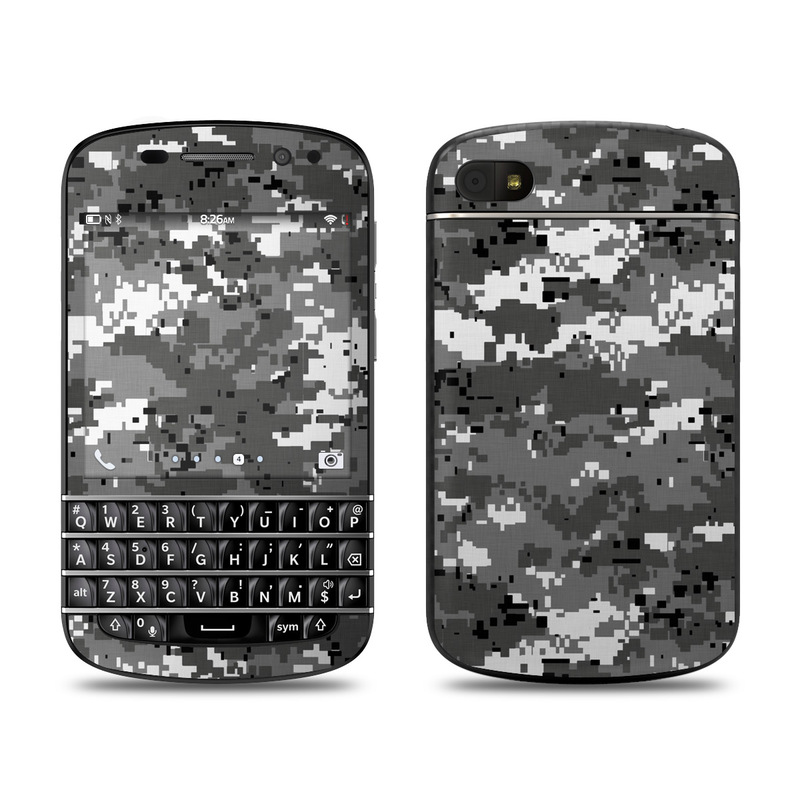BlackBerry Q10 Skin design of Military camouflage, Pattern, Camouflage, Design, Uniform, Metal, Black-and-white with black, gray colors