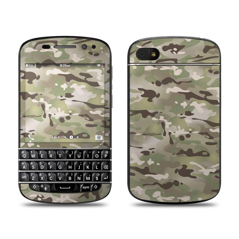 BlackBerry Q10 Skin design of Military camouflage, Camouflage, Pattern, Clothing, Uniform, Design, Military uniform, Bed sheet with gray, green, black, red colors