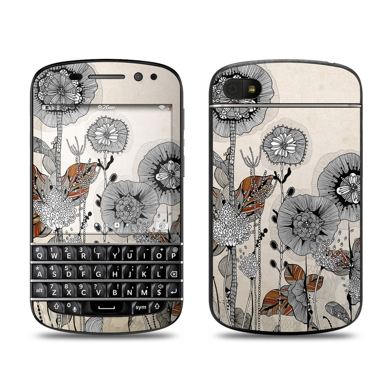 Four Flowers BlackBerry Q10 Skin