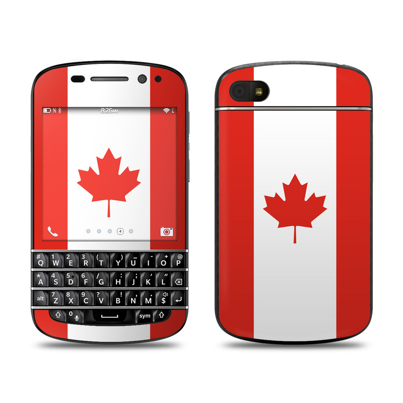Canadian Flag BlackBerry Q10 Skin
