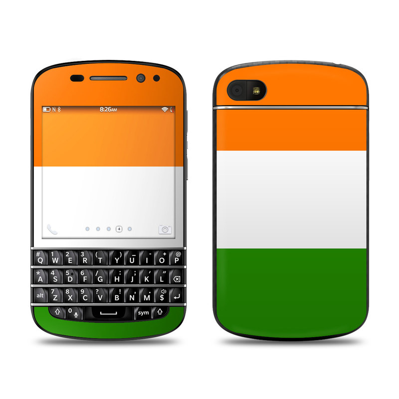 Irish Flag BlackBerry Q10 Skin