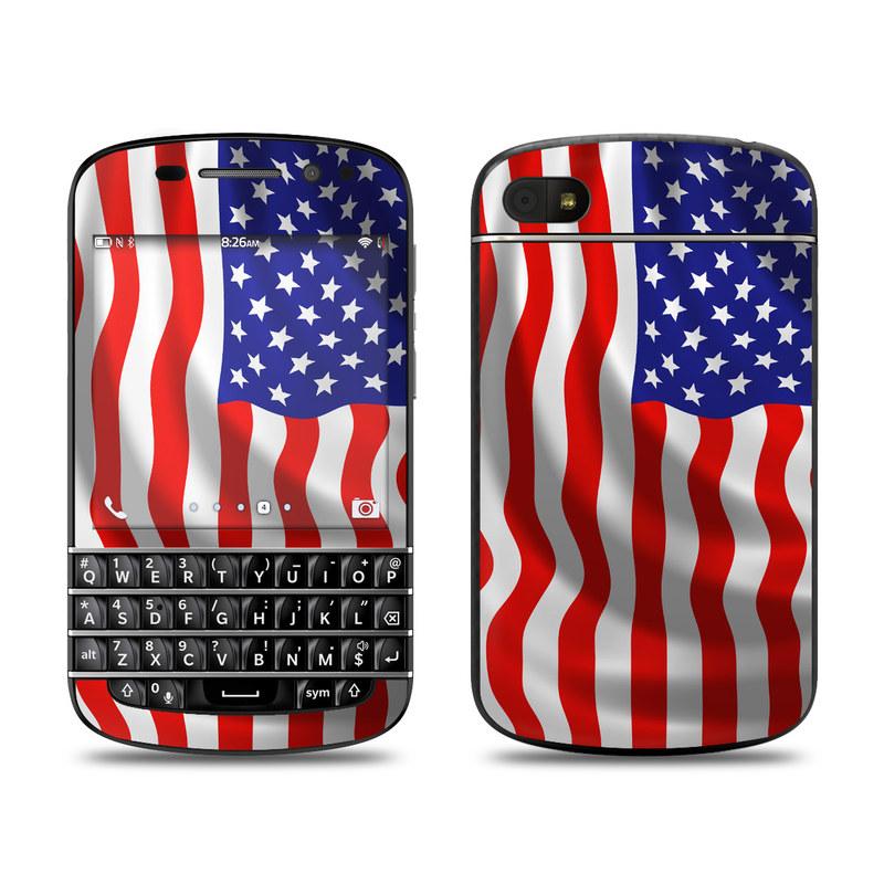 USA Flag BlackBerry Q10 Skin