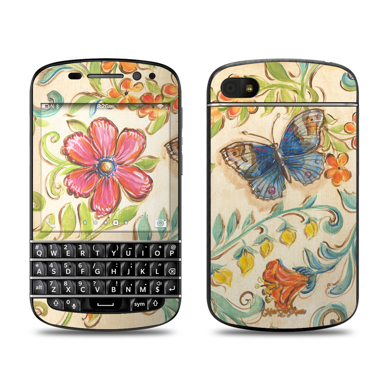 Garden Scroll BlackBerry Q10 Skin
