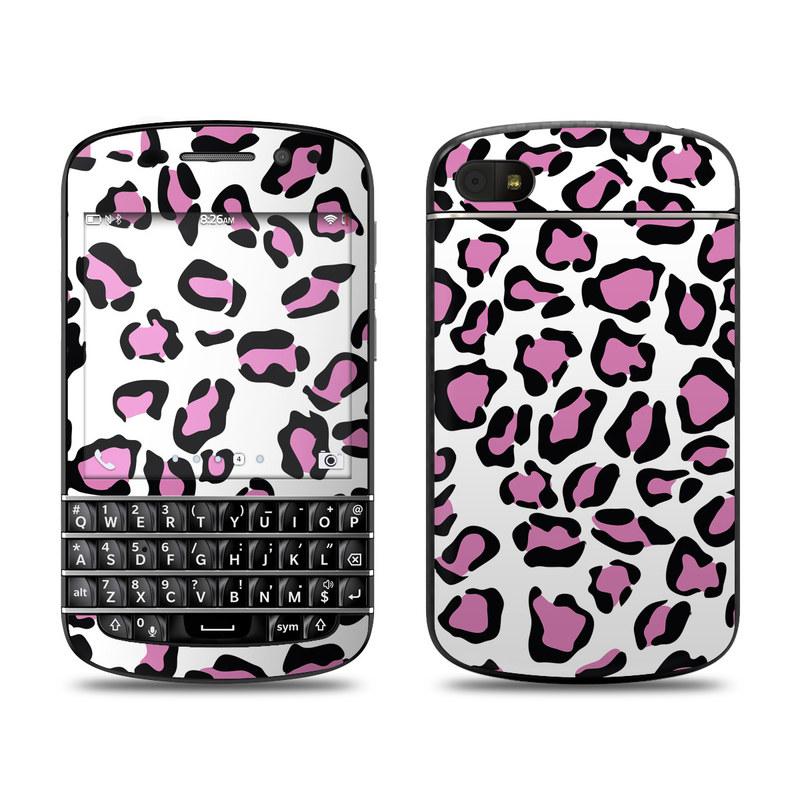 Leopard Love BlackBerry Q10 Skin
