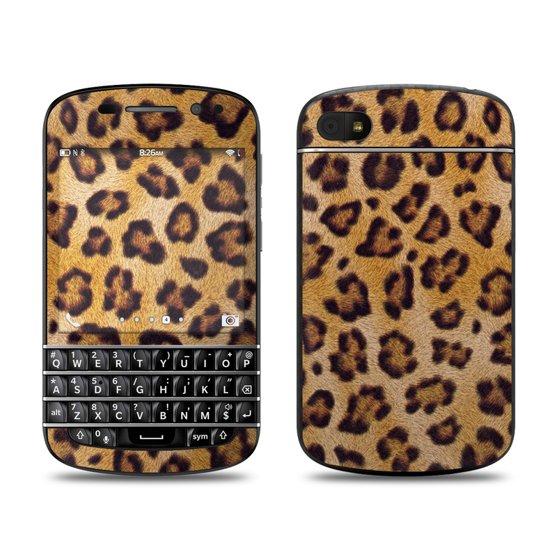 BlackBerry Q10 Skin design of Pattern, Felidae, Fur, Brown, Design, Terrestrial animal, Close-up, Big cats, African leopard, Organism with orange, black colors