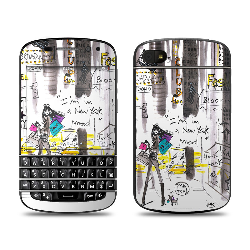 My New York Mood BlackBerry Q10 Skin